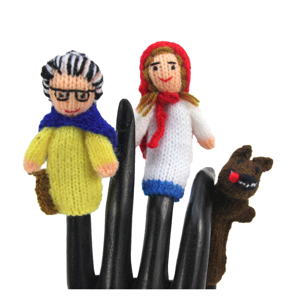 Red Riding Hood Finger Puppet Set of 3 - Global Handmade Hope CoolHatcher at TheArtOfLiving.Earth