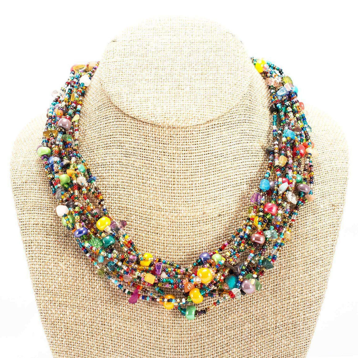 12 Strand Bead Beach Ball Necklace CoolHatcher at TheArtOfLiving.Earth