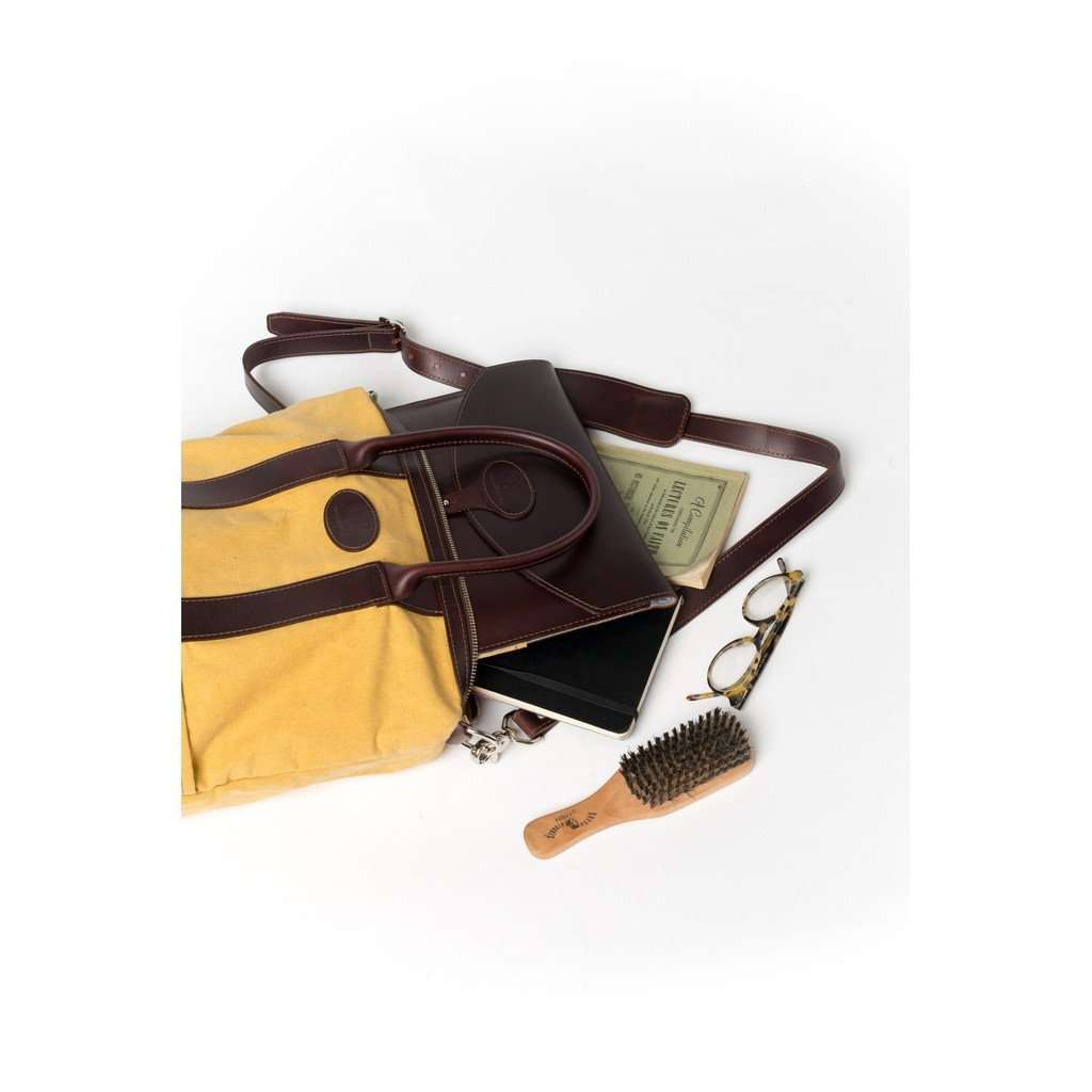 "13"" Laptop Case - Brown and Yellow - Monogram CoolHatcher at TheArtOfLiving.Earth"
