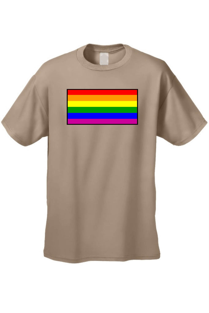 Men's/Unisex T Shirt Gay Pride Rainbow Flag Short Sleeve Tee CoolHatcher at TheArtOfLiving.Earth