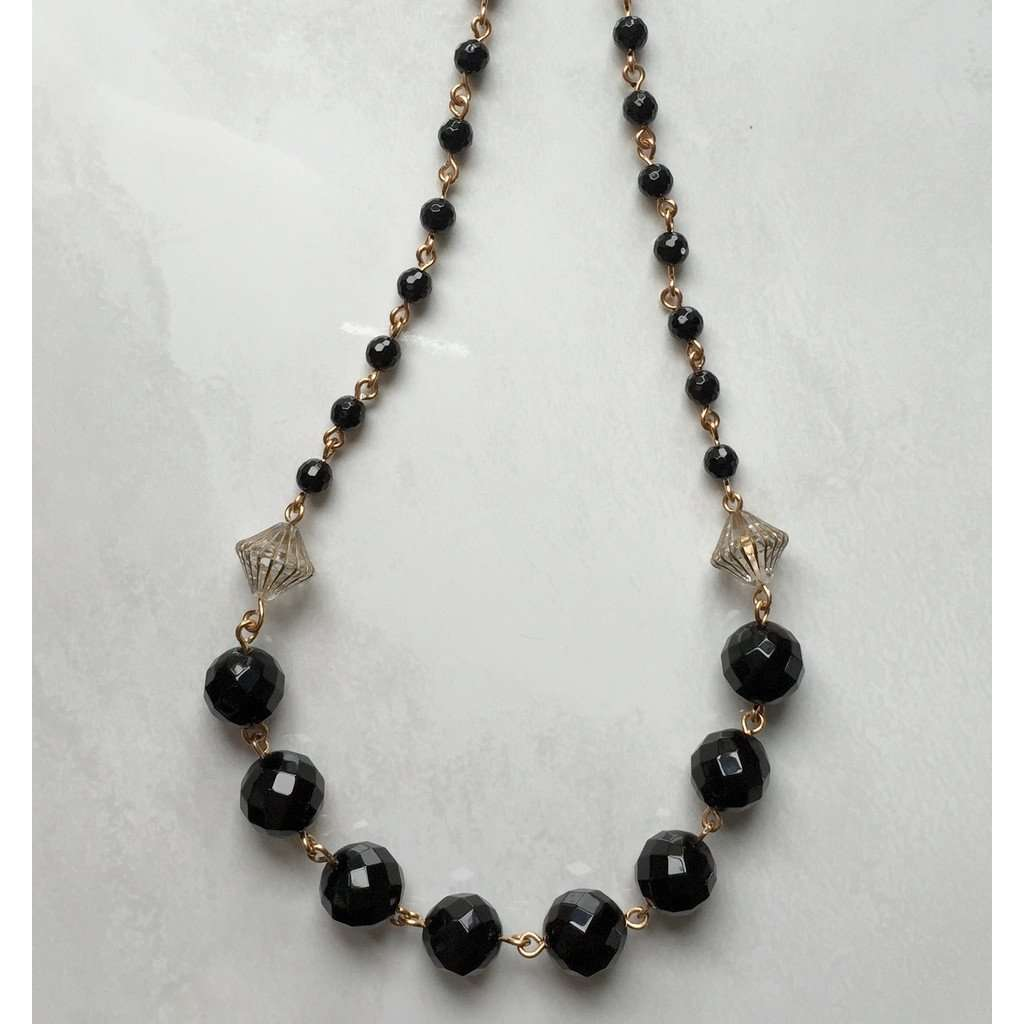 Black Onyx Necklace CoolHatcher at TheArtOfLiving.Earth