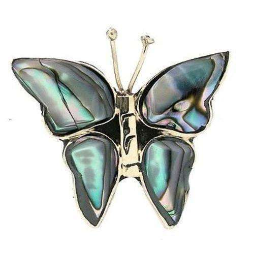 Silver Abalone Butterfly Pin CoolHatcher at TheArtOfLiving.Earth