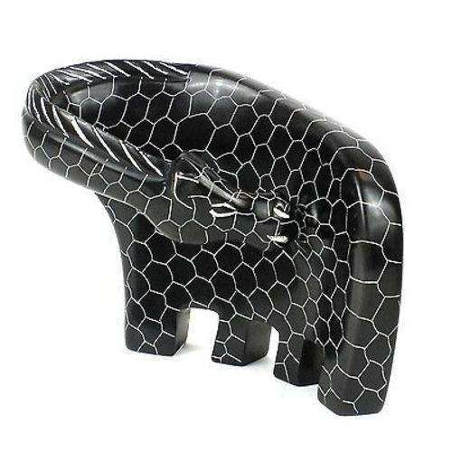 Handcrafted Large Giraffe Soapstone Sculpture in Black - Smolart CoolHatcher at TheArtOfLiving.Earth
