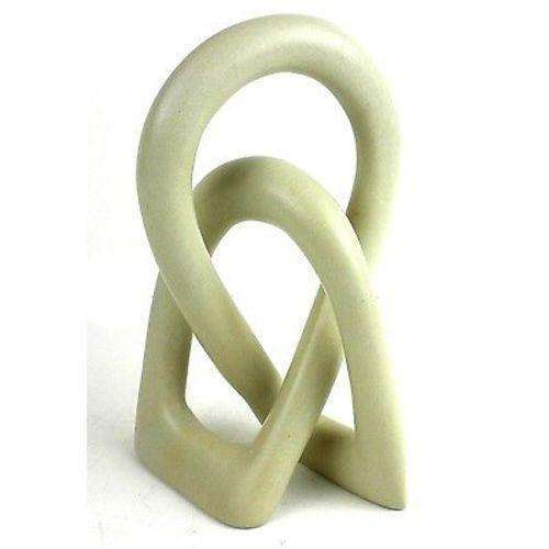 Natural Soapstone 6-inch Lover's Knot - Smolart CoolHatcher at TheArtOfLiving.Earth