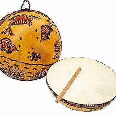 Ocean Gourd Drum - Jamtown World Instruments CoolHatcher at TheArtOfLiving.Earth