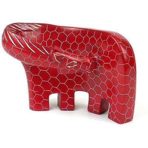 Handcrafted Large Giraffe Soapstone Sculpture in Red - Smolart CoolHatcher at TheArtOfLiving.Earth