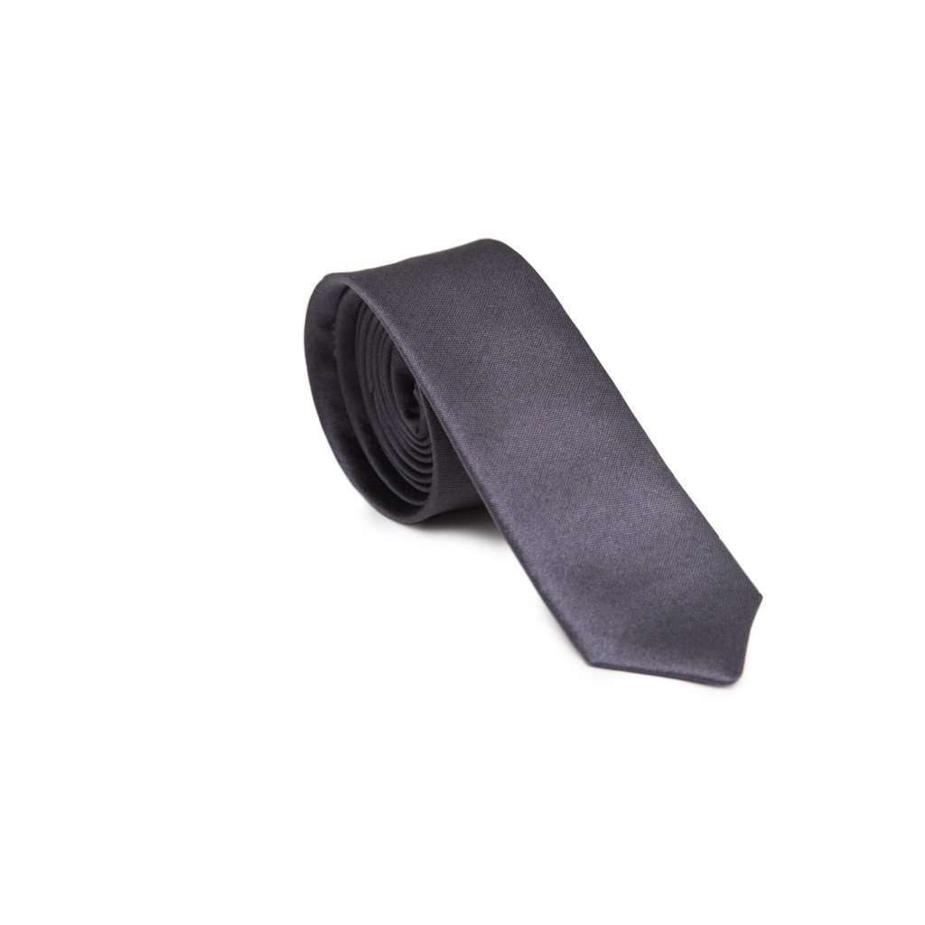 Charcoal Skinny Tie CoolHatcher at TheArtOfLiving.Earth