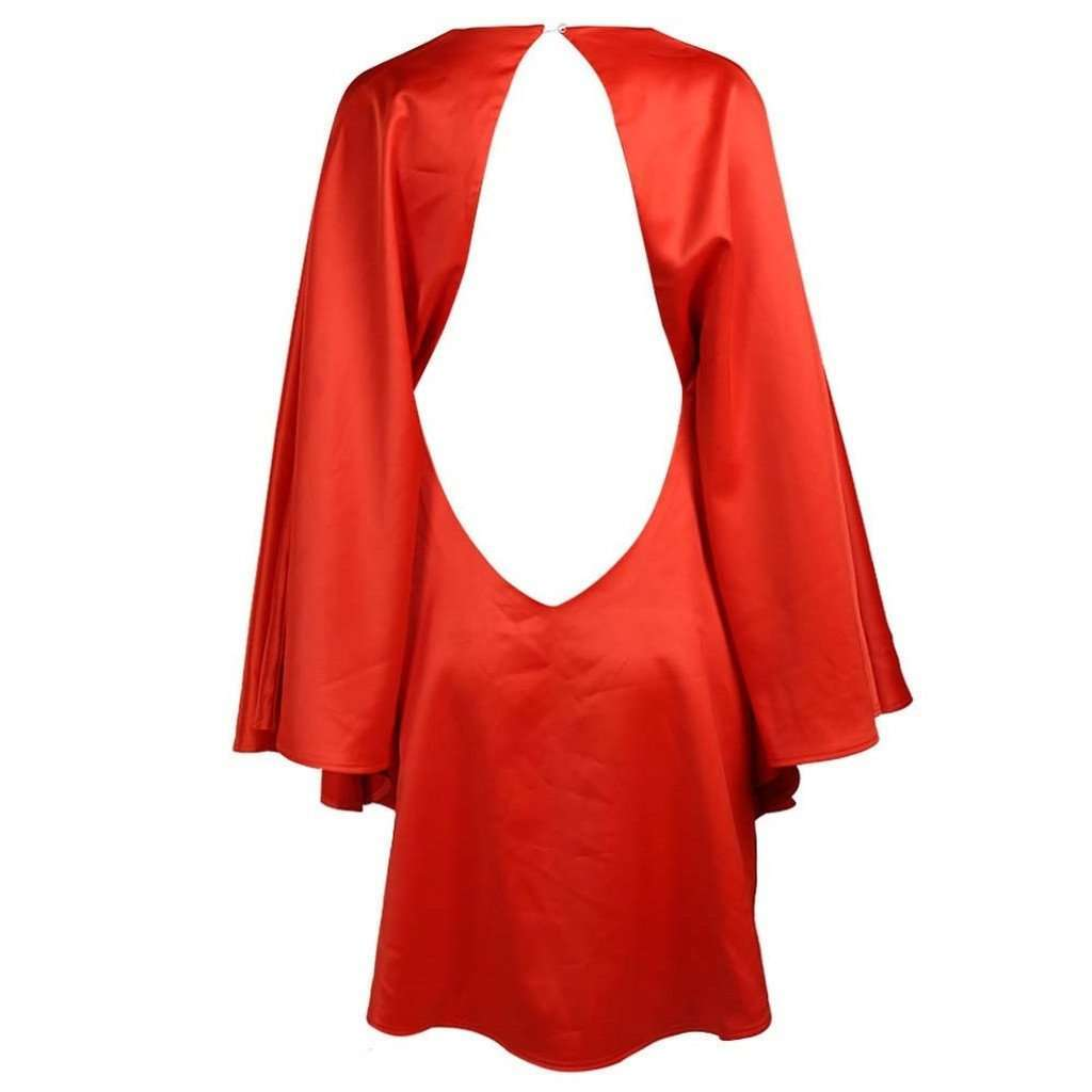 Red Cape Dress , Made to Order CoolHatcher at TheArtOfLiving.Earth