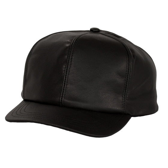 Levine Fitted Leather Baseball Cap CoolHatcher at TheArtOfLiving.Earth