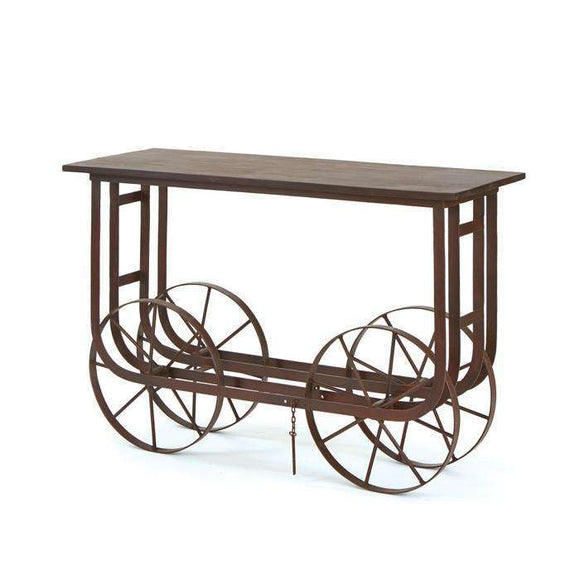 Nebraska Console Table With Wheels CoolHatcher at TheArtOfLiving.Earth