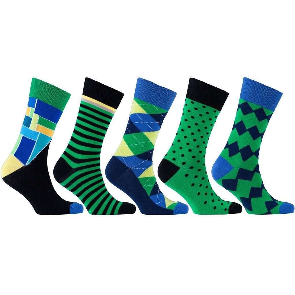 Men's 5-Pair Colorful Mix Socks CoolHatcher at TheArtOfLiving.Earth
