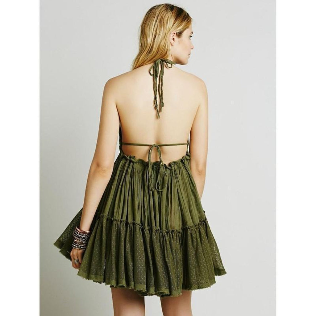 Daydreamer Backless Dress CoolHatcher at TheArtOfLiving.Earth