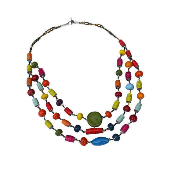 3 Strand Mixed Necklace - Imani Workshop (J) CoolHatcher at TheArtOfLiving.Earth