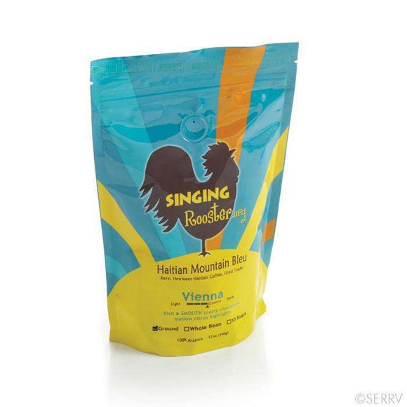Singing Rooster Arabica shade grown coffee, Whole Bean