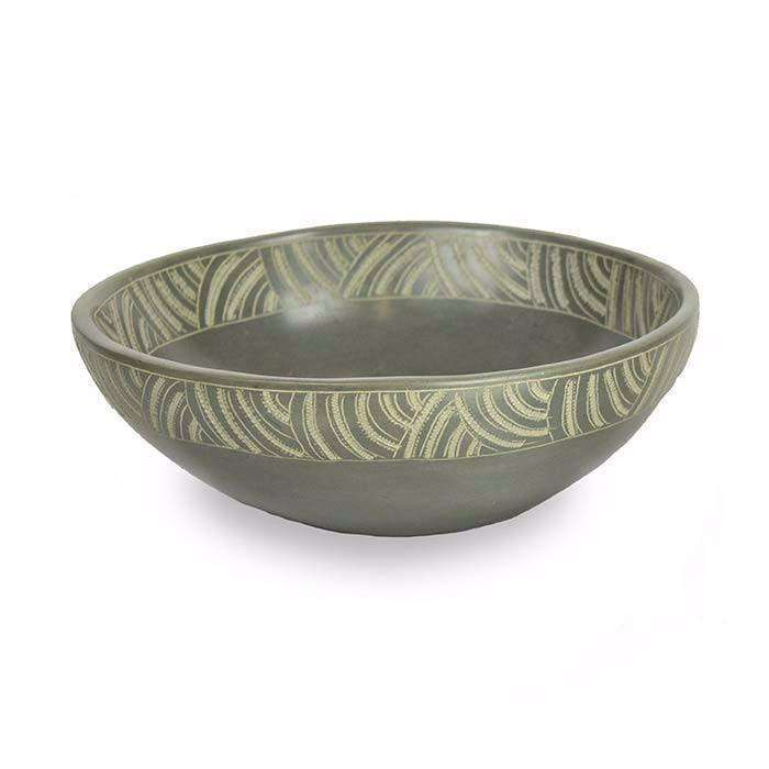 Medium River Stone Bowl CoolHatcher at TheArtOfLiving.Earth