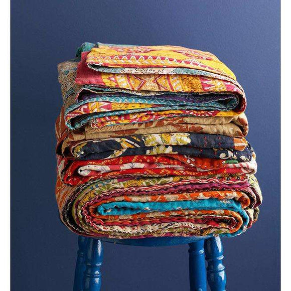 Kantha Quilt CoolHatcher at TheArtOfLiving.Earth