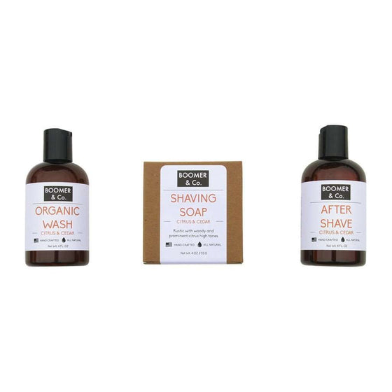 Citrus & Cedar Men's Grooming Kit CoolHatcher at TheArtOfLiving.Earth