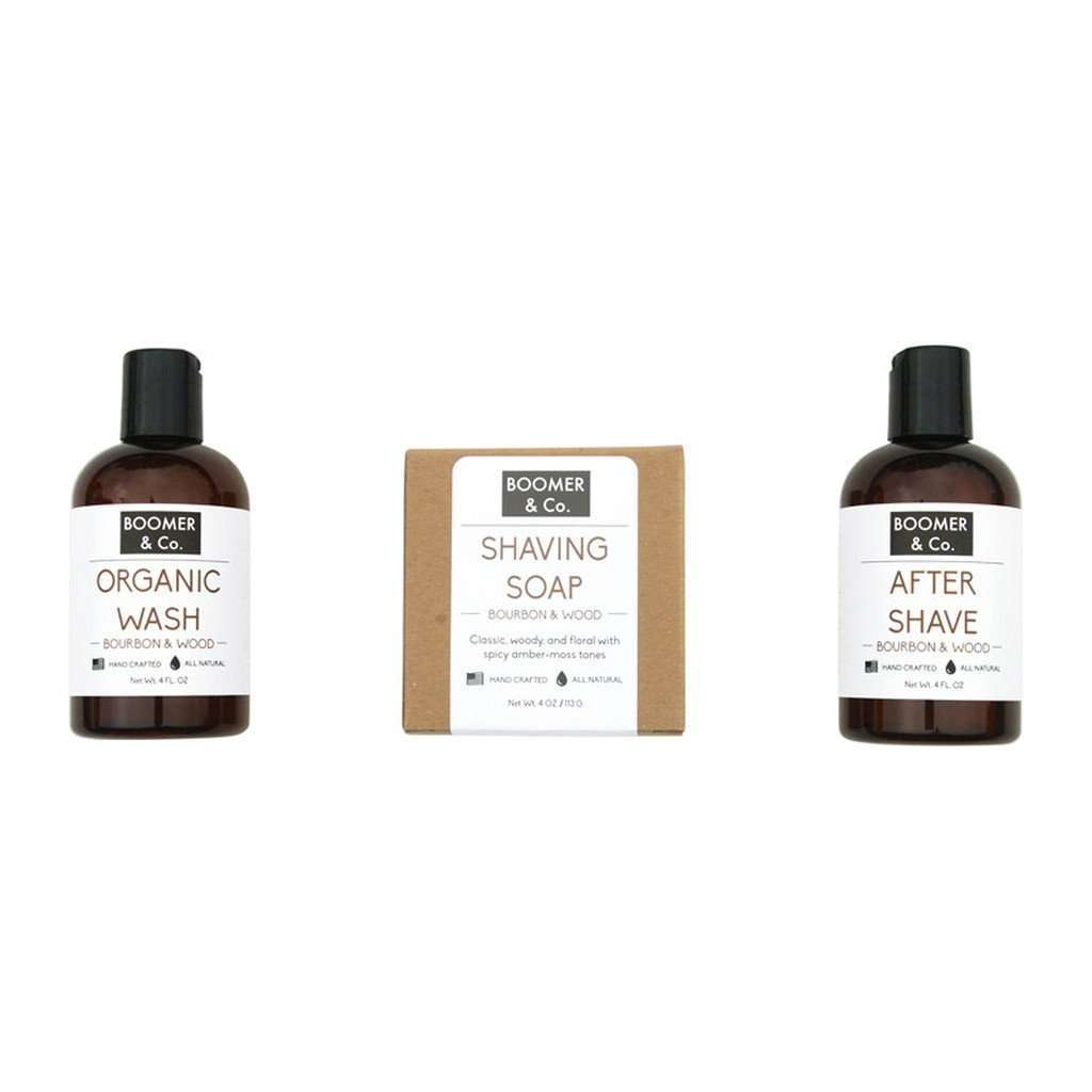 Bourbon & Sandalwood Men's Grooming Kit CoolHatcher at TheArtOfLiving.Earth