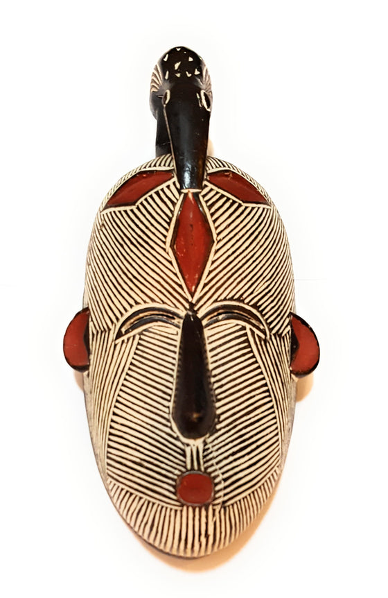 "12"" - 16"" African Congo Songi/Songye Wood Mask: Black and White CoolHatcher at TheArtOfLiving.Earth"