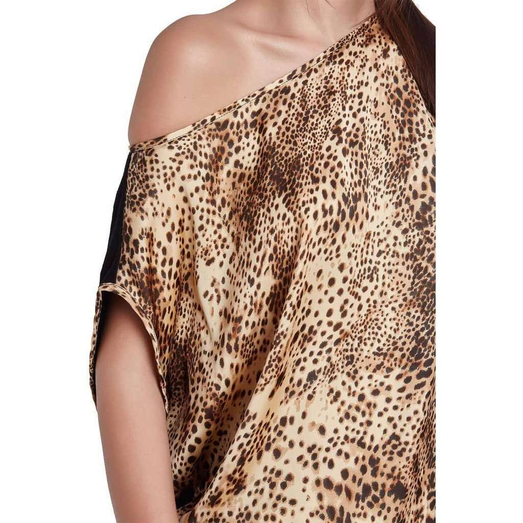 Brown leopard print top CoolHatcher at TheArtOfLiving.Earth