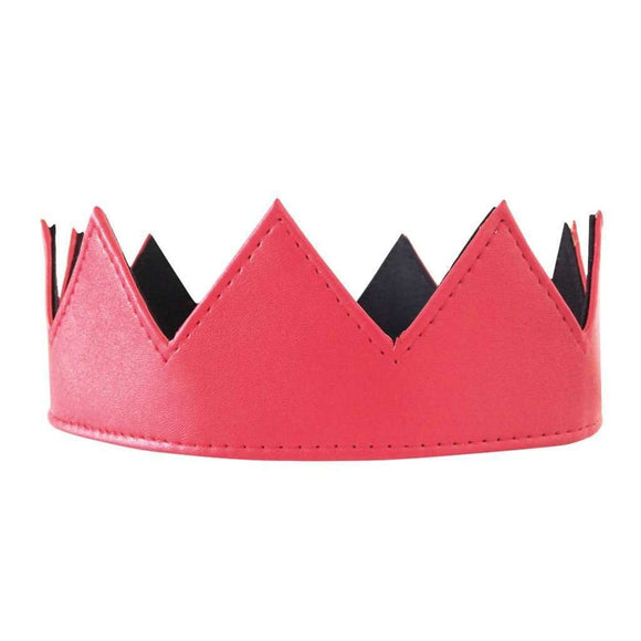 Red Leather Crown CoolHatcher at TheArtOfLiving.Earth