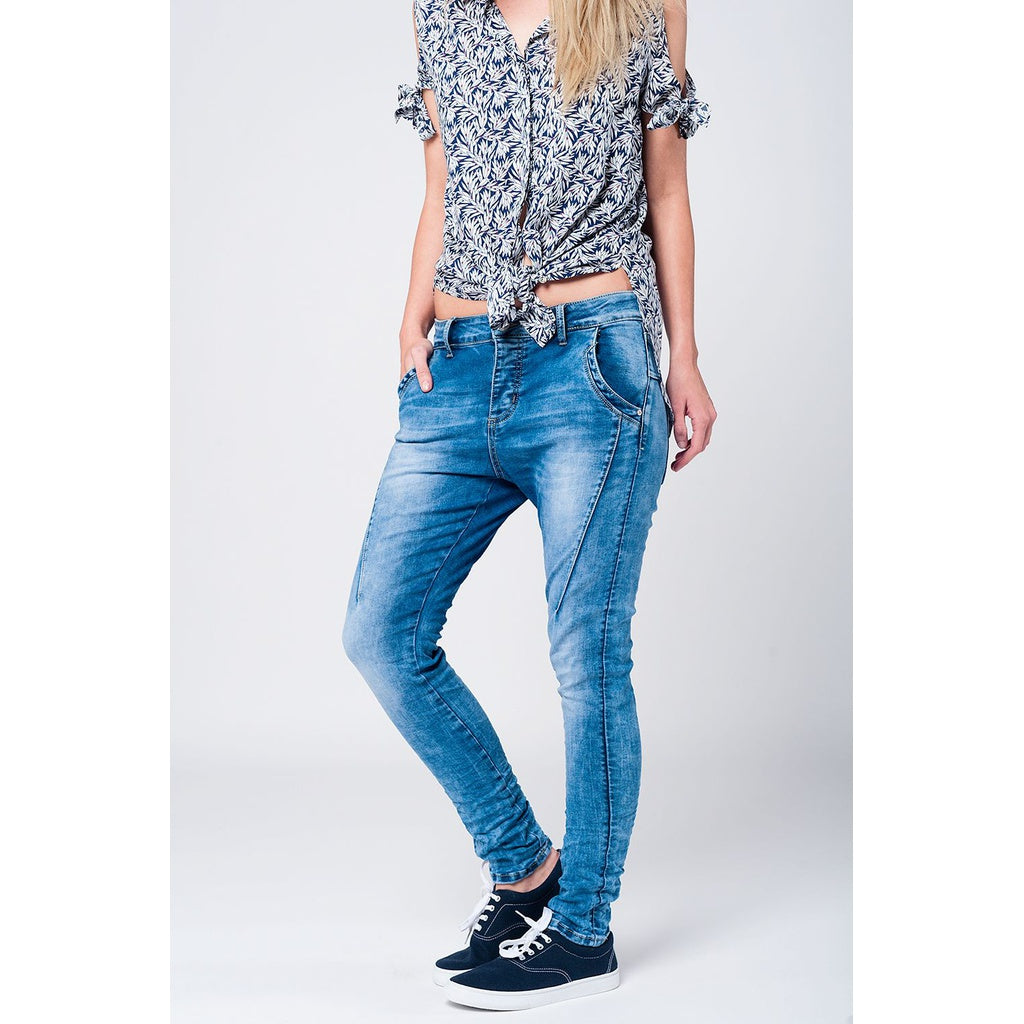 3D effect Low Boyfriend Jeans CoolHatcher at TheArtOfLiving.Earth