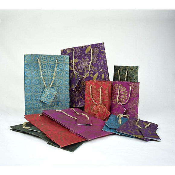 Set of 5 Small Handmade Gift Bags CoolHatcher at TheArtOfLiving.Earth