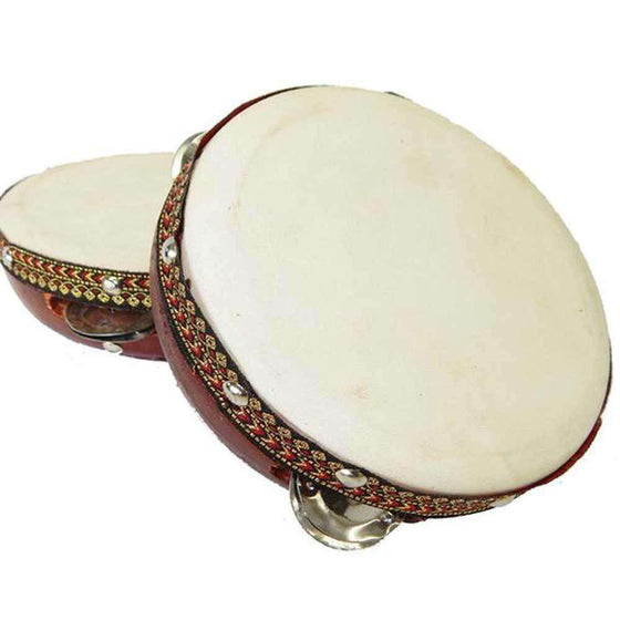 8-inch Frame Tambourine Drum - Jamtown World Instruments CoolHatcher at TheArtOfLiving.Earth