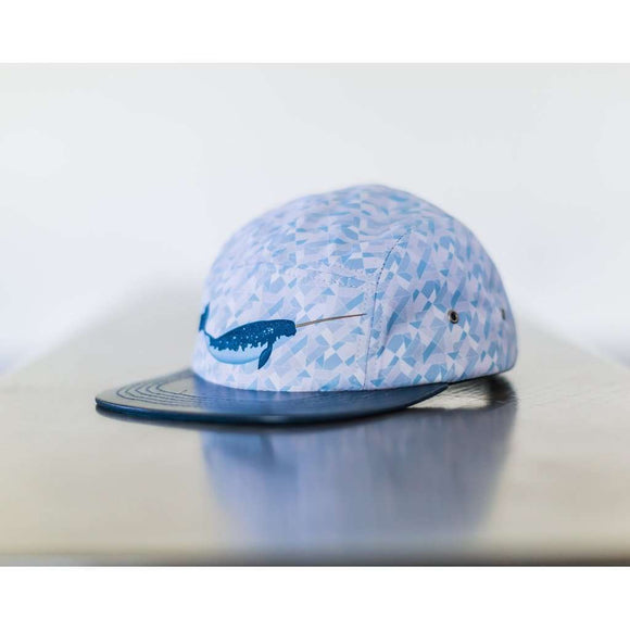 Gnar-Whal the Narwhal 5 panel hat