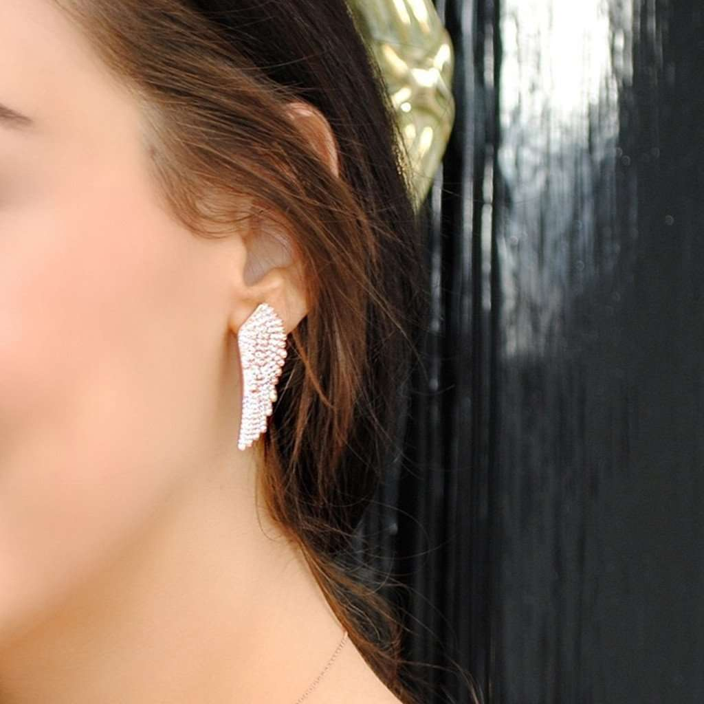 925 Sterling Silver Large Angel Wing Earrings CoolHatcher at TheArtOfLiving.Earth
