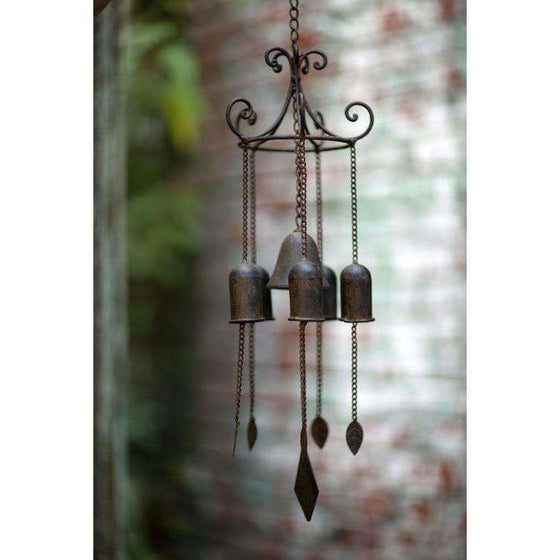 Large Cast Iron Zen Wind Chime CoolHatcher at TheArtOfLiving.Earth