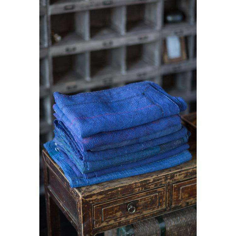 Overdyed Indigo Blanket or Throw CoolHatcher at TheArtOfLiving.Earth