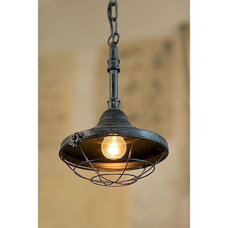 Small Iron Factory Pendant Lamp CoolHatcher at TheArtOfLiving.Earth