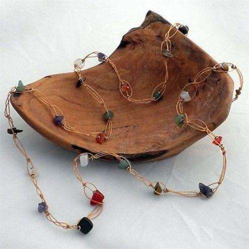 Recycled Tire Cord and Agate Necklace - Zakali Creations CoolHatcher at TheArtOfLiving.Earth