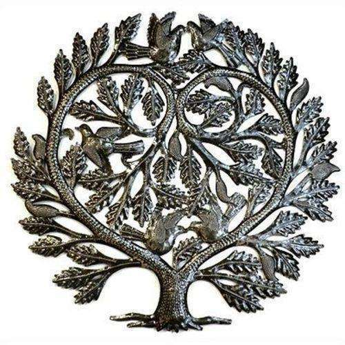 Steel Drum Art -  Lovers Heart 24 inch Tree of Life - Croix des Bouquets CoolHatcher at TheArtOfLiving.Earth