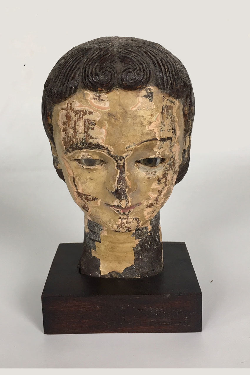 Antique Hand Carved Saint Head CoolHatcher at TheArtOfLiving.Earth