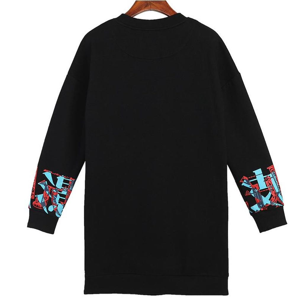 Printed Long Sleeve  O-neck Pullover CoolHatcher at TheArtOfLiving.Earth