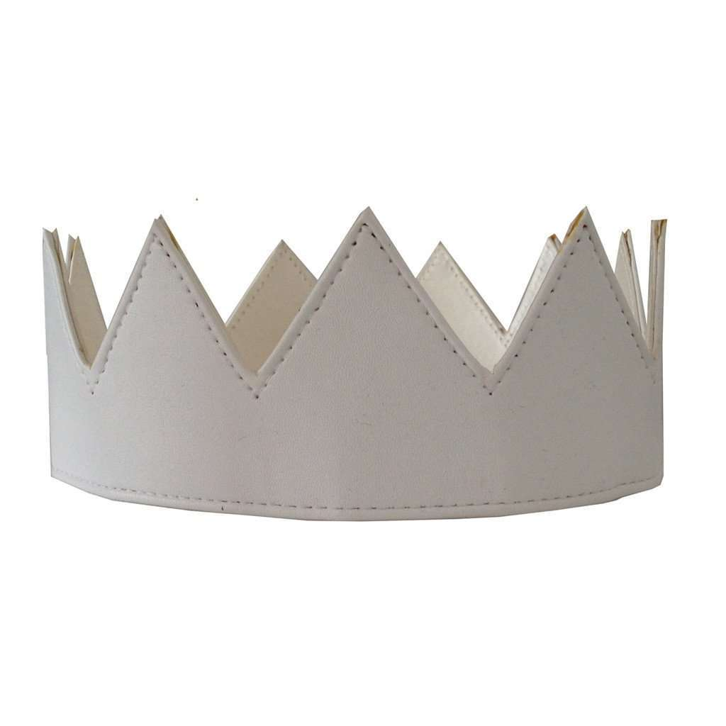 White Leather Crown CoolHatcher at TheArtOfLiving.Earth