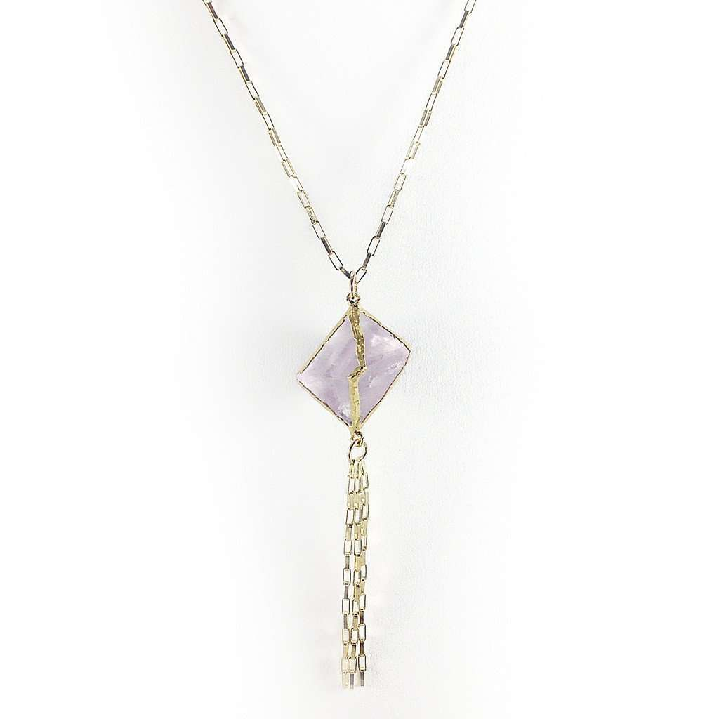 Abbey Lavendar Fluorite Necklace CoolHatcher at TheArtOfLiving.Earth