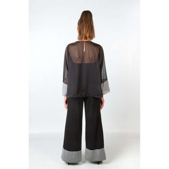 ACEBO BLACK BLOUSE CoolHatcher at TheArtOfLiving.Earth