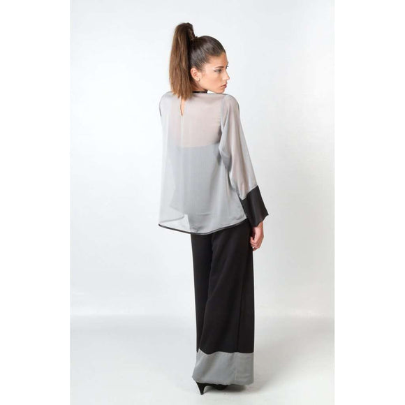 ACEBO GREY BLOUSE CoolHatcher at TheArtOfLiving.Earth