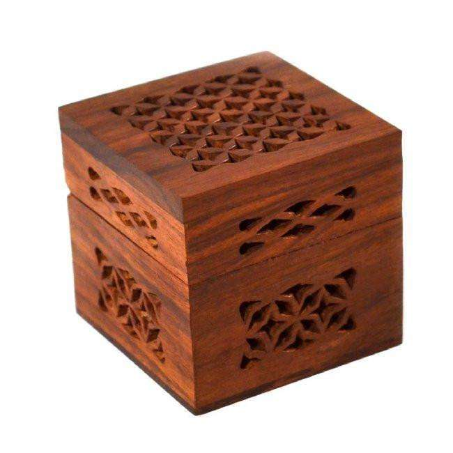 Small Cutwork Wood Box CoolHatcher at TheArtOfLiving.Earth