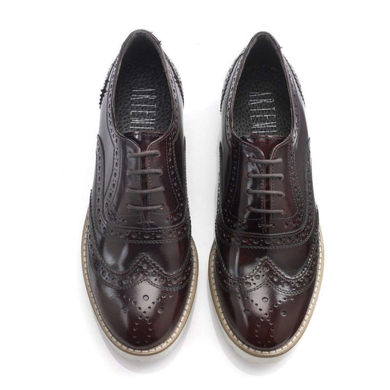 Aija Burgundy Brogues CoolHatcher at TheArtOfLiving.Earth
