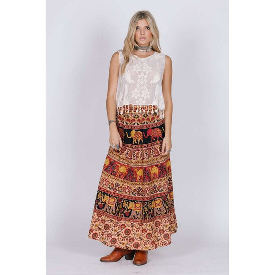 ANAYA MAXI SKIRT CoolHatcher at TheArtOfLiving.Earth