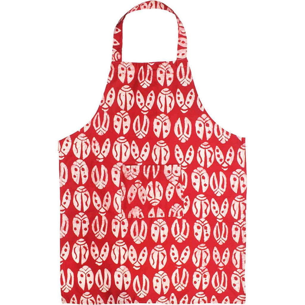 Apron - Red Bugs CoolHatcher at TheArtOfLiving.Earth