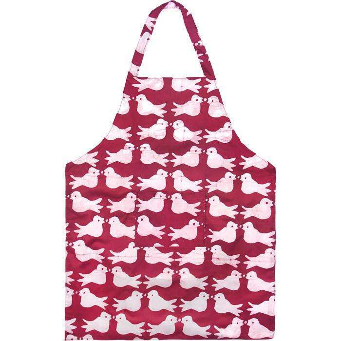 Apron Two Birds Design Plum CoolHatcher at TheArtOfLiving.Earth