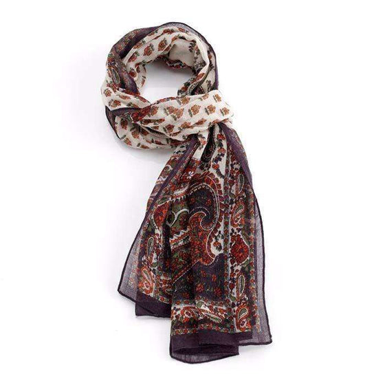 Autumn Paisley Wool Scarf CoolHatcher at TheArtOfLiving.Earth