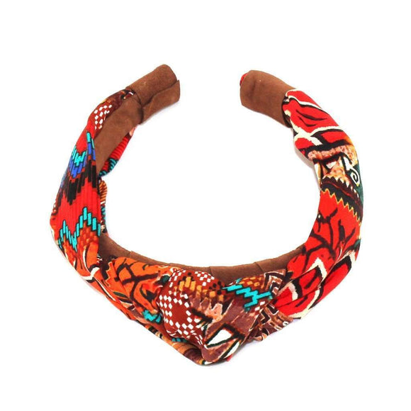 Aztec Suede Knot Headband CoolHatcher at TheArtOfLiving.Earth
