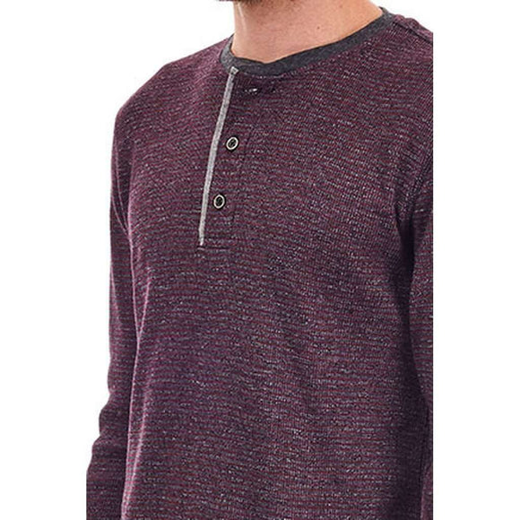 Kyle Striped Thermal Henley CoolHatcher at TheArtOfLiving.Earth
