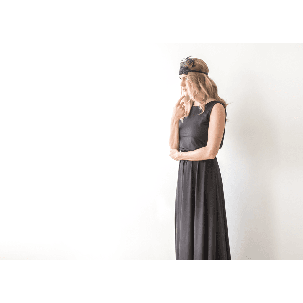 Backless blush pink maxi sleeveless dress CoolHatcher at TheArtOfLiving.Earth